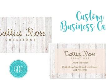 Stella and dot business cards etsy custom business card etsy shop cards set of 100 rodan fields colourmoves