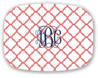 Personalized Platter, Personalized Engagement Gift, Monogram Melamine Platter, Monogrammed Melamine Plate, Monogram Plate, Melamine Platter