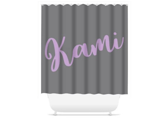 Personalized Shower Curtain Monogram Teen