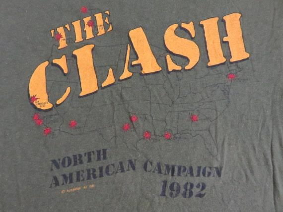 THE CLASH 1982 tour T SHIRT