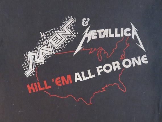 METALLICA RAVEN 1983 tour T SHIRT