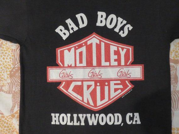 Original MOTLEY CRUE vintage 1987 tour T SHIRT