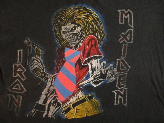 IRON MAIDEN 80s custom Paki T SHIRT