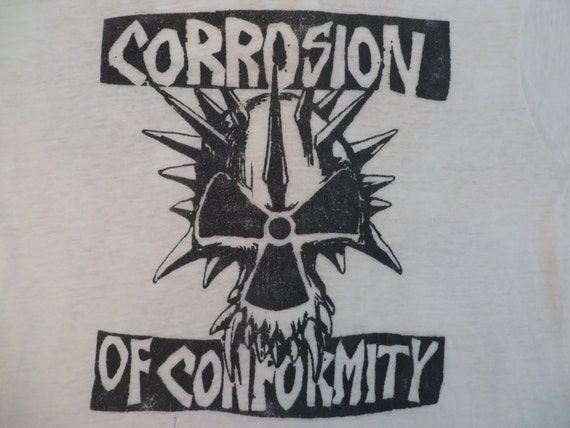CORROSION Of CONFORMITY 80s paper thin burnout TSH