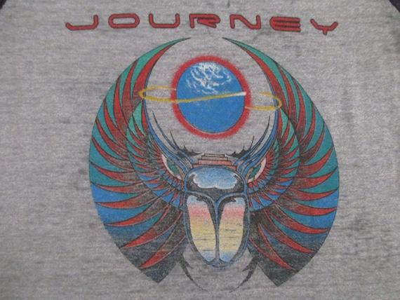 JOURNEY 1981 tour T SHIRT paper thin burnout