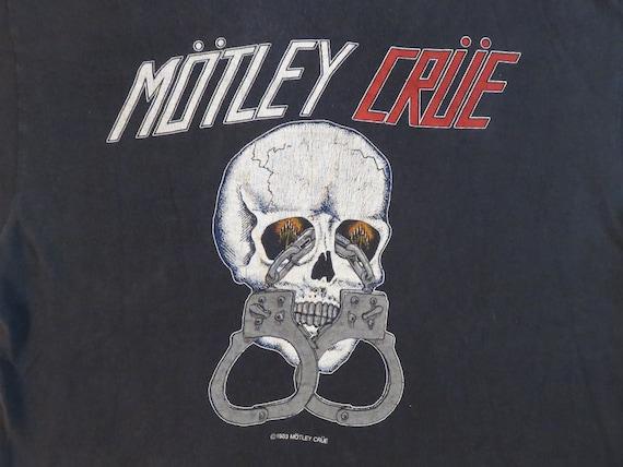 Vintage MOTLEY CRUE 1983 Tour T SHIRT original con