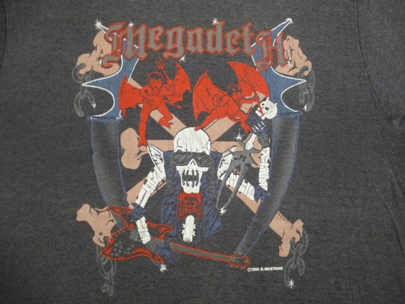 MEGADETH original vintage 1986 tour TSHIRT