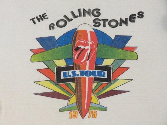 ROLLING STONES 1975 Tour T SHIRT original vintage
