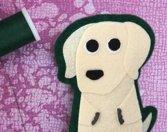 Labrador Retriever - Dog Lover's Gift - Iron on Patch OR Ornament - Sew On Patch - Felt Animal Applique - Black, Yellow or Chocolate Lab