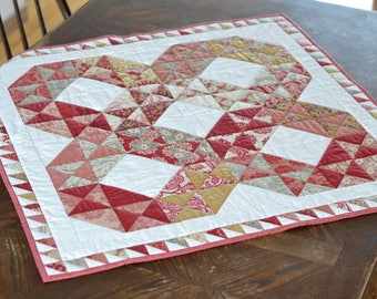 "Madame Rouge Quilted Table Runner, 34"" square"