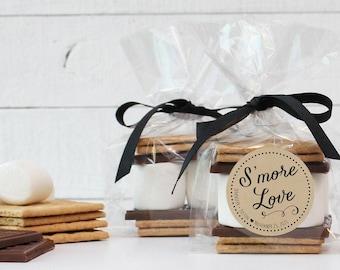 24 - S'mores Wedding Favors   DIY Kits - S'more Love Label   Smore's Favor   S'more Love Labels