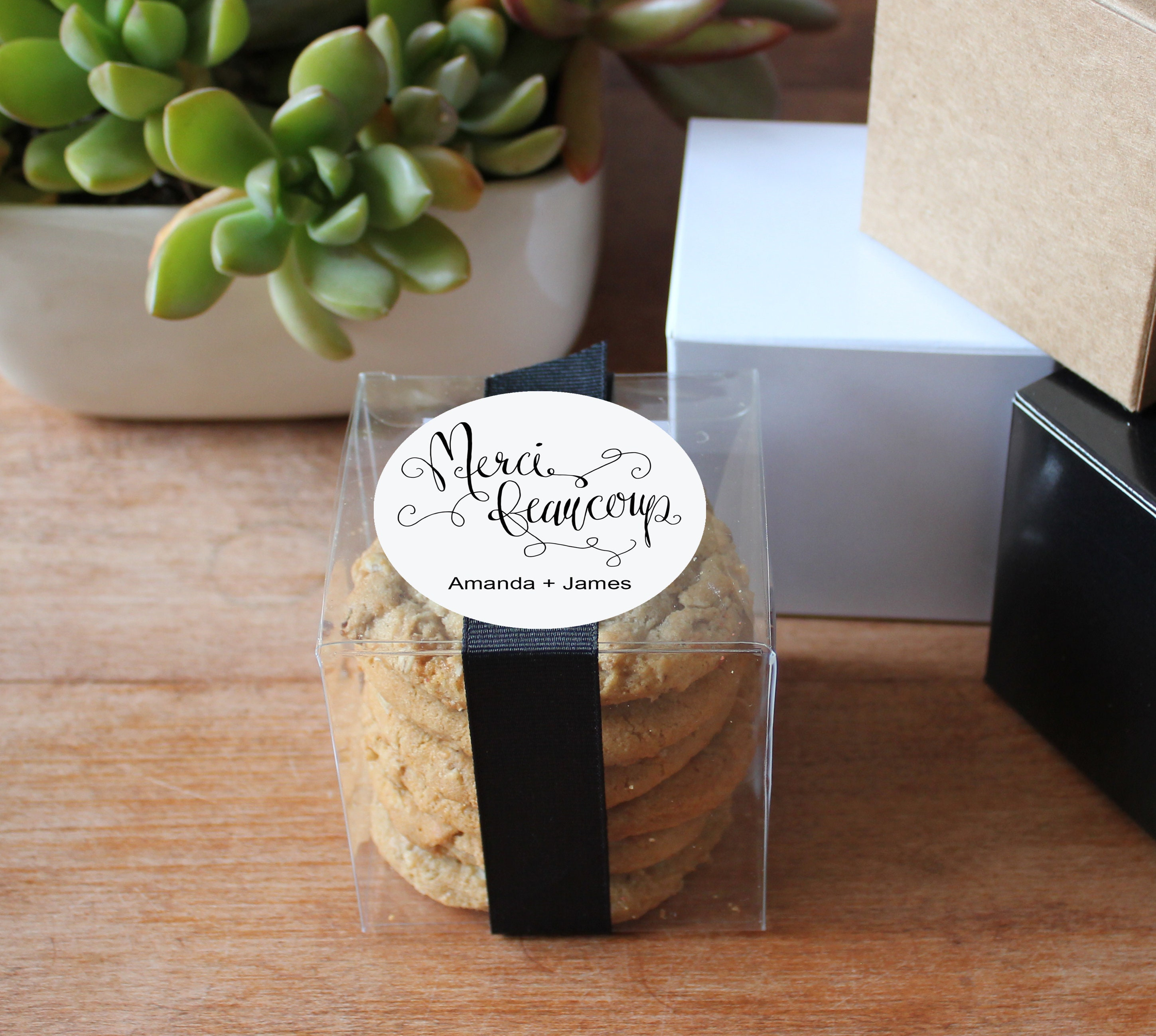 Merci Beaucoup Favor Box Merci Beaucoup Label French Etsy