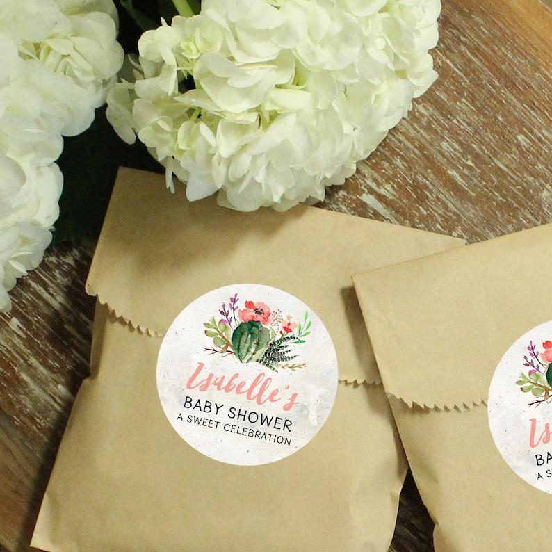 c76f0c56d Papel 24 Favor de bolsas etiqueta de flor de Cactus Bolsos | Etsy