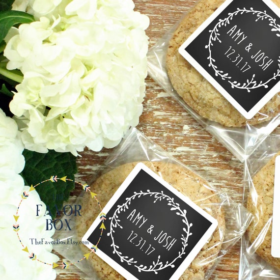 24 Personalized Cellophane Cookie Bags Candy Bags Laurel Etsy