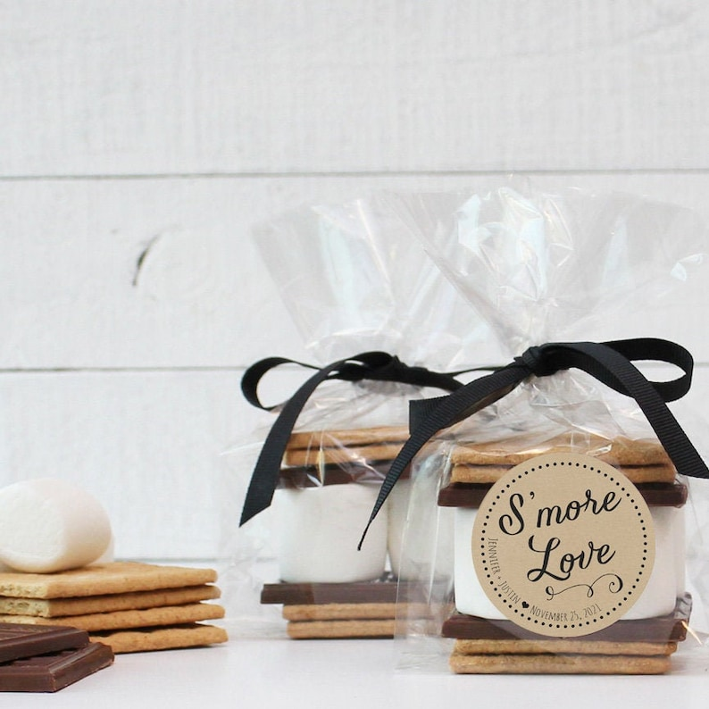 24  S'mores Wedding Favor Kits  S'more Love Label  image 0