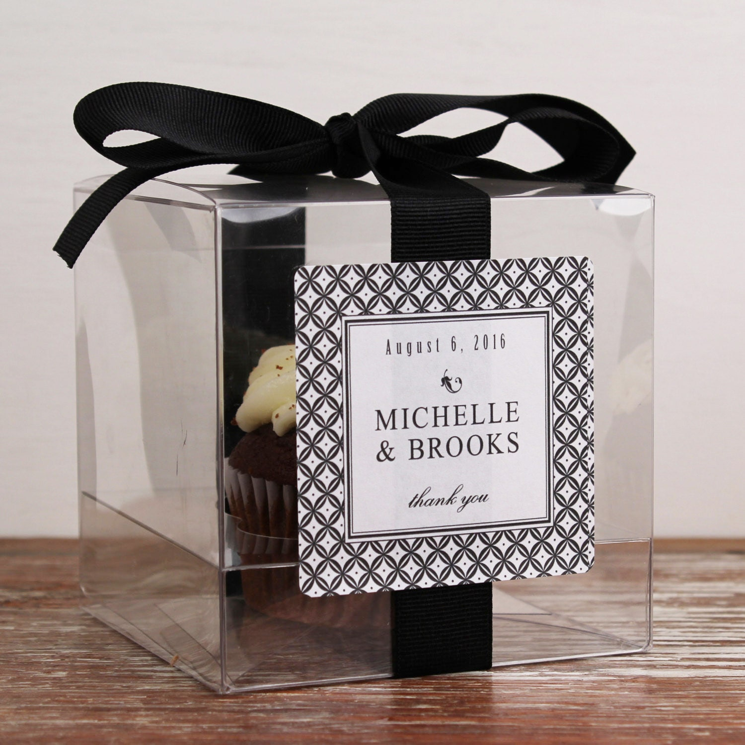 8 Personalized Cupcake Boxes Metro Design Any Color Etsy