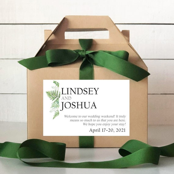 Pineapple Label Tropical Wedding Welcome Bag Out of Town Guest Bag Wedding Welcome Box Set of 6-Out of Town Guest Box