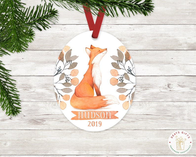 Personalized Christmas Ornament Baby Boy Keepsake Ornament image 0