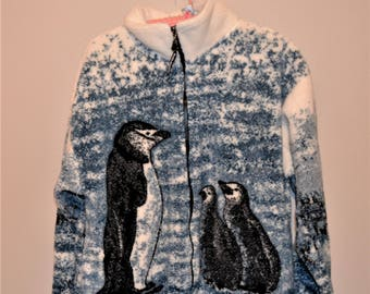 Vintage Marching Penguins on Jacket