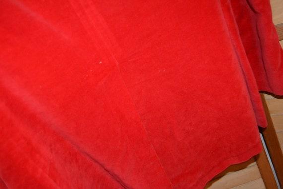 Vintage Mens Jacket, Blazer 1960's Red Velvet - image 5