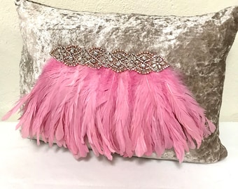 Pink glam pillow etsy