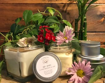 Floral Scented Candle | Soy Wax Candle | Lily / Lilac / Rose / Hyacinth Mix Candle | Mason Jar Candle | Travel Candle | Gigi's Garden Scent