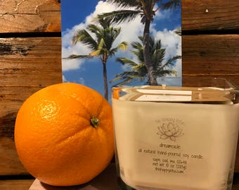 Orange Coconut Candle | Summer Candle | Citrus Candle | Sweet Candle | All Natural Soy Candle | Fragrance Oil Candle | Dreamsicle Scent
