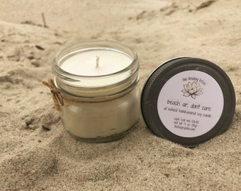 Sea Salt / Orchid Candle | Scented Candle | Beachy Candle | Monthly Special | 5 oz Candle | Mason Jar Candle | Beach Air Don't Care Scent