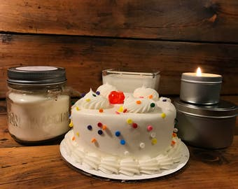 Cake Scented Candle | Birthday Cake Scent | Soy Scented Candle | Cube Candle | Travel Candle | Mason Jar Candle | Have Your Cake Scent
