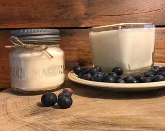 Blueberry Scented Candle | Summer Candle | Spring Candle | All Natural Soy Wax Candle | Soy Scented Candle | Blueberries in Summer Scent