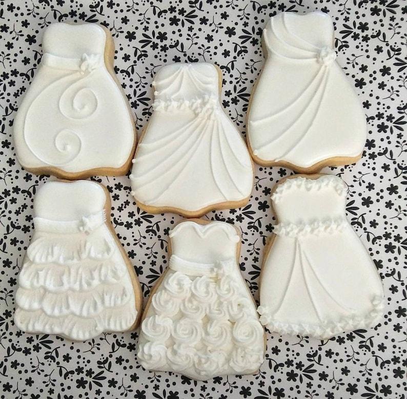 Wedding cookies Wedding dress cookies bridal cookies | Etsy