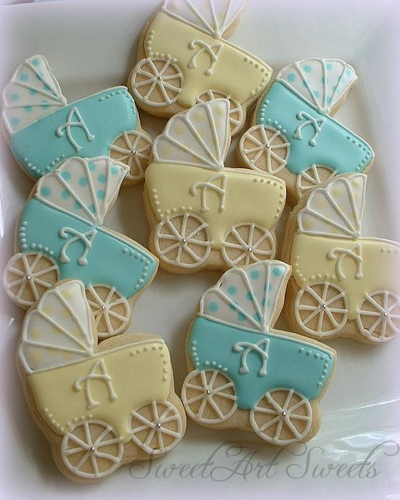 Baby Shower Cookies Baby Stroller Cookies 1 Dozen Baby Etsy