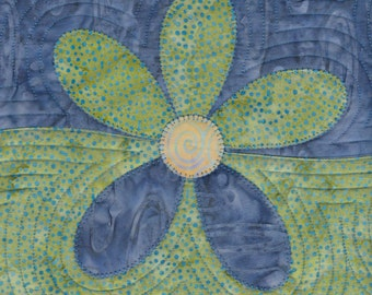 Wavy Daisy Table Runner / Wall Hanging Quilt Pattern