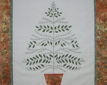 Greenery Wall Hanging Quilt Pattern