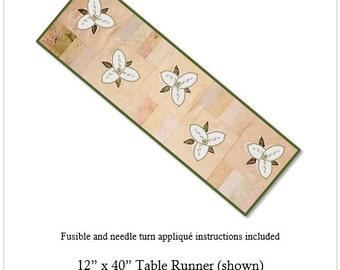 KIT: Trillium Table Runner Quilt Pattern and KIT