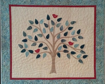 KIT: Song Bird Trio Wall Hanging Quilt Pattern and KIT