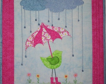 April Showers Wall Hanging Quilt Pattern
