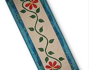 KIT: Bloomers Table Runner / Wall Hanging Quilt Pattern and KIT