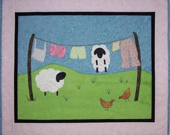 Sheep Hang Time Wall Hanging Quilt Pattern