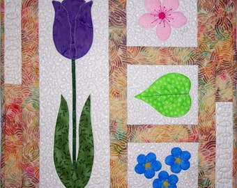 KIT: Spring Harmony Wall Hanging Quilt Pattern and KIT