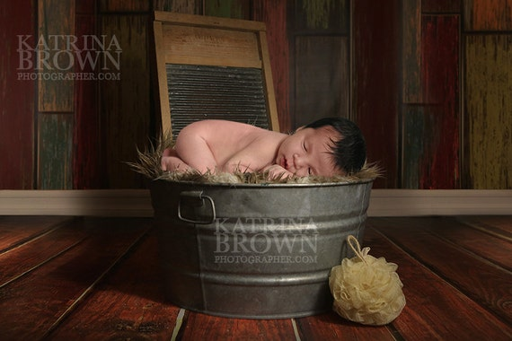 Washtub Baby Digital Backgrounds For Infant Newborn Etsy