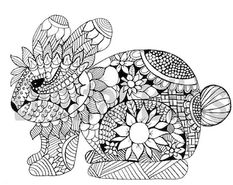 Adult Coloring Download Whimsical Owl Adult Coloring Page Etsy