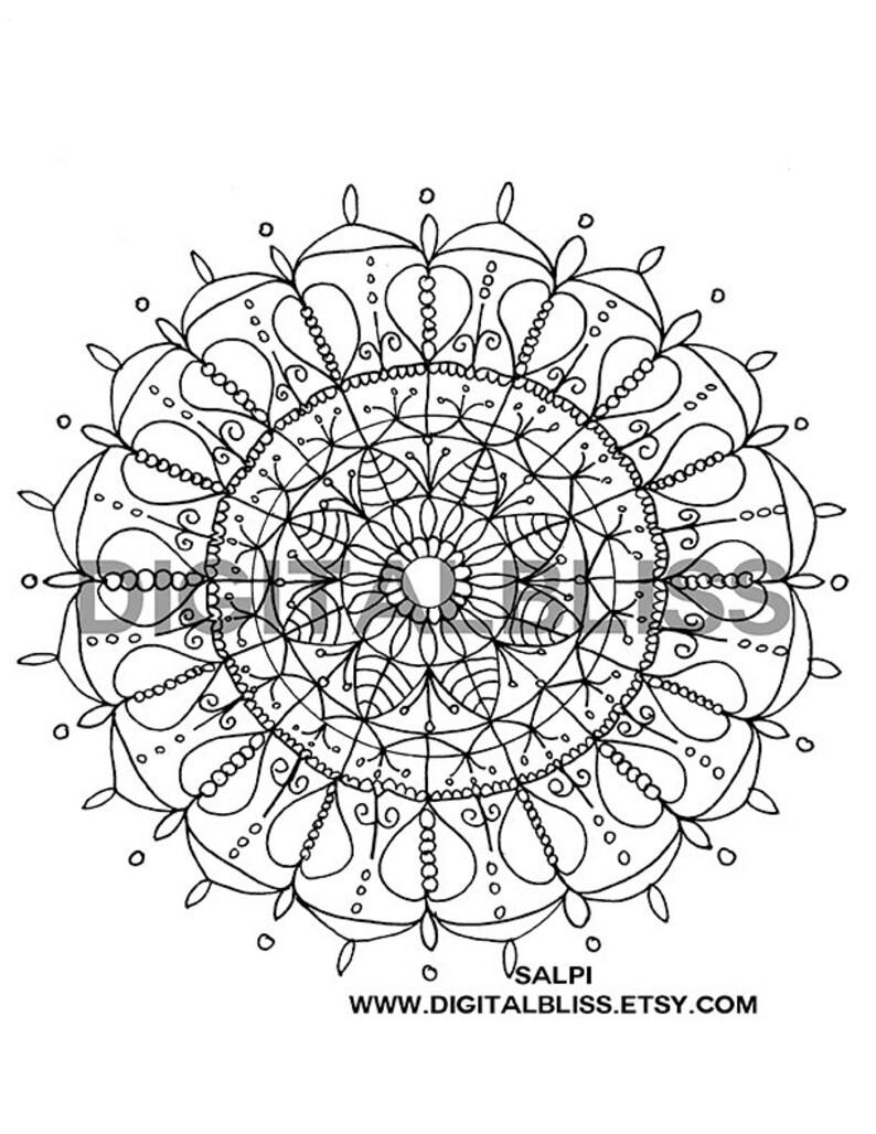 Adulte Coloriage Mandala De Coeur Page Instantanée Télécharger Coloriage Dessin Page à Colorier Enfants Coloriage Page Enfants Activité Artisanale