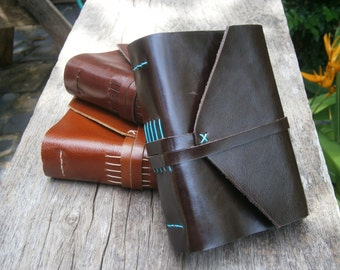 """Old Times Leather Journal / Handmade / 6x4"""" / LINED or plain"""