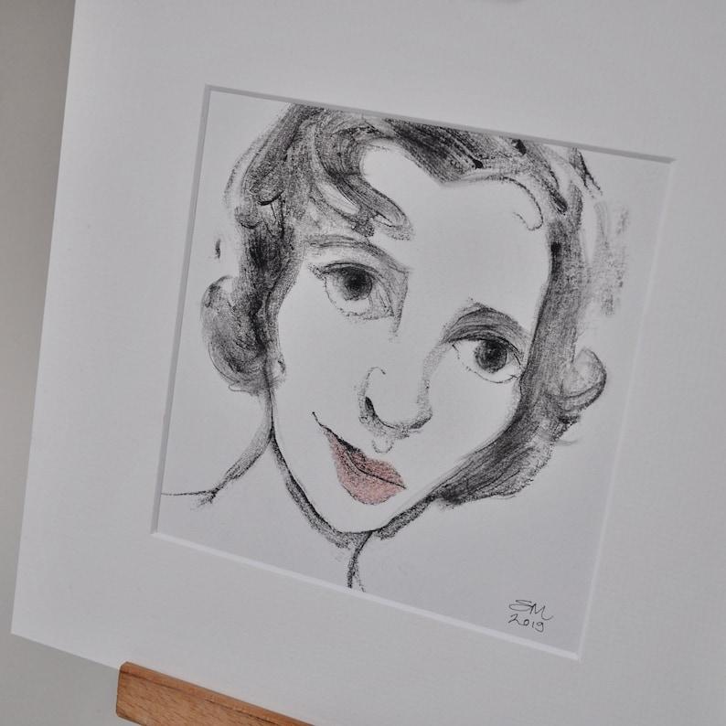 Contemporary Fine Art Gifts original handcrafted art \u2018Woman\u2019s Face\u2019