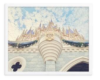 Disney Castle Print, Disney World Castle Photography, Disney Princess Castle Art, Walt Disney Castle Wall Art, Pastel Disneyworld Print