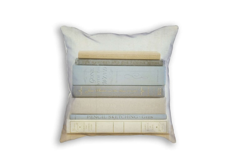 Book Pillow Cover Book Pillowcase Book Decor Stacked Books image 0