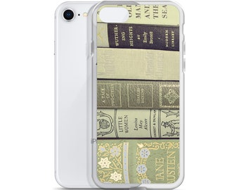Books iPhone Case, Stacked Books iPhone Case, Literature iPhone 12 Case, Green Books Phone, Stacked Books Samsung Galaxy Case, Book Gift