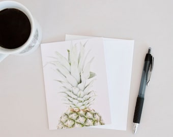 Pineapple Card Set, Pineapple Stationary, Blank Card Set, Hostess Gift Set of 6 Cards,Pineapple Card, Pineapple Notecards, Small Gift Idea