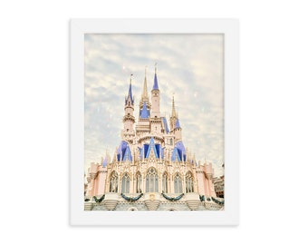 Disney Castle Print, DisneyWorld Castle Art, Disney World Castle, DisneyWorld Castle Wall Art, Disney Nursery Print, Disney Photography